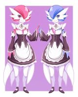 Gardevoir Ram and Rem by AbyssWatchers