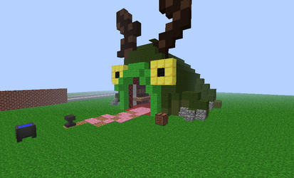 weapon frog from castle crashers in minecraft by ronesglory