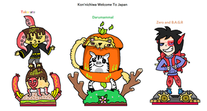 The Outcasters - Kon'nichiwa Welcome To Japan by CheesySquidSandwich
