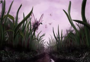 Pokesafari: Venomoth and the tall grass by SebasVishno