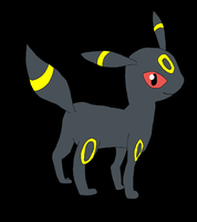 Umbreon Colored by SkulblakaShurtugal