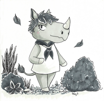 Inktober 2016: ACNL Renee by ms-aibee