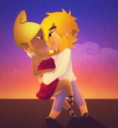 Link and Tetra: Dancing by BeagleTsuin