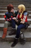 Hiccup and Astrid - How To Train Your Dragon 2 by Kibamarta