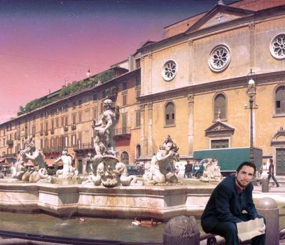 Sunset in Piazza Navona by ScallywagSingers121