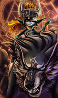 Link and Midna by Autlaw