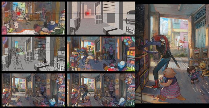 Process- Nostalgic stores by christon-clivef