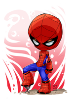 Spider-Man vs. Ant-Man Chibi by wooserr