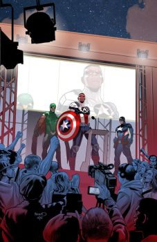 Captain America : Sam Wilson 14 by PaulRenaud