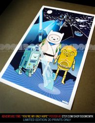 Adventure Time You're My Only Hope 2 poster by DoomCMYK