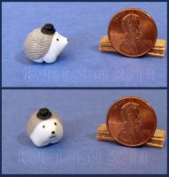 Miniature Hedgehog Wearing A Top Hat No 1 by Kyle-Lefort