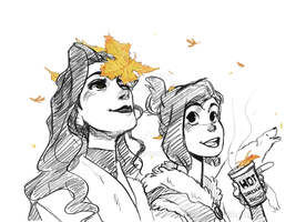 korrasami month - day 1-3 autumn by Dilutra