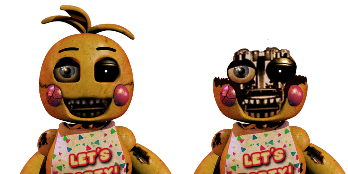 [FNaF Edit] Withered Toy Chica by EliteRobo