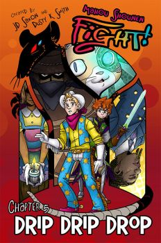 Mahou Shounen FIGHT! Issue #5 Cover by ScuttlebuttInk
