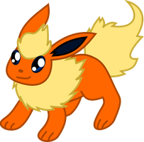Flareon - chibi by Death-of-all