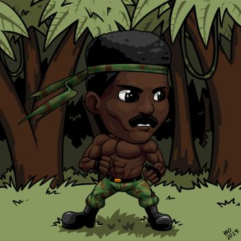 Commission - Black Rambo by ZombieToaster