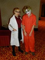 Harley Quinn and Joker Zenkaikon 2015 by bumac