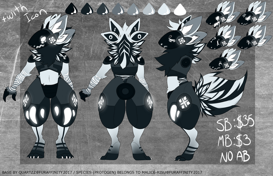 Spooky Protogen design #6 auction -CLOSED by NazaKiru