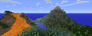 Minecraft volcano by newdeal666