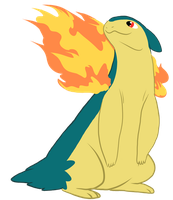 Happy Typhlosion Showing Off Its Flames by WolfKat777
