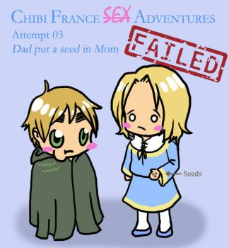 APH - Chibi France S3X Adventures by C4L4M1T43R0ST4T0 on