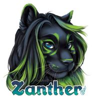 Zanther Badge Commission by GoldenDruid