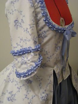 Blue Floral Caraco jacket 04 by Idzit