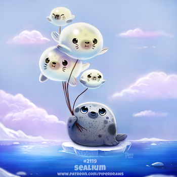 Daily Paint 2119. Sealium by Cryptid-Creations