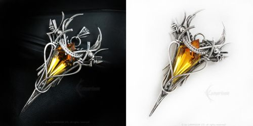 DARRAMANTIEEL Silver and Citrine by LUNARIEEN