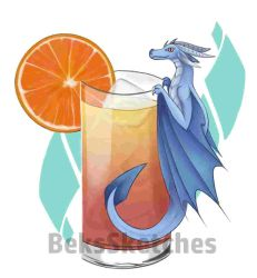 Orange cocktail by BeksSketches