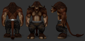 ZBrush - Tauren Protection Warrior WIP by Rebecca1208