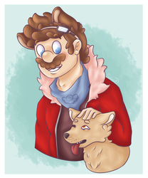 Two doggos | Gift by DreamyLittleSarah