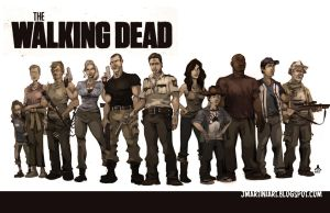 Walking Dead CAST by jasinmartin