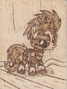 Show Stopper Scootaloo Pyrography by Malte279