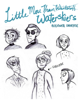 Little More Than Waterskiers by jstaricka