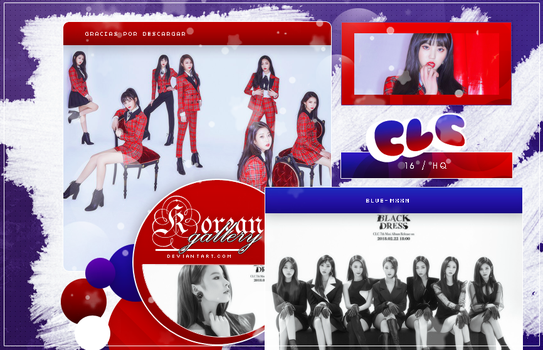 CLC | BLACK DRESS | PHOTOPACK by KoreanGallery