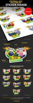 Football Championship 2014 Matchplan Sticker Maker by sktdesigns
