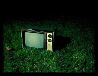 tv on grass. by thespook
