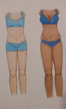 Eis and Nevarine Body Study by ReignofEmery
