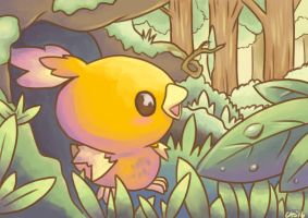 Daily Paint #4 - Torchic by Caskatified