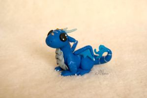 little blue dragon by xXNeo