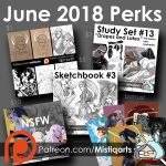 June 2018 Patreon Perks by Mistiqarts