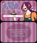 Business cards for artist alley use! by Cotton-Keyk