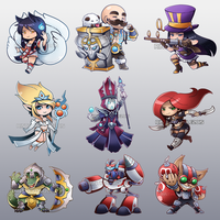 A whole lotta league chibis! by RinTheYordle