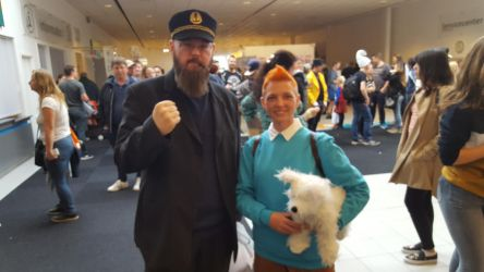 Haddock and Tintin by EgonEagle