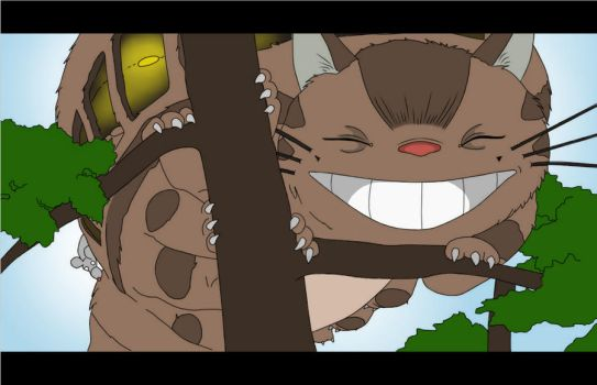 The Catbus - My Neighbour Totoro by mmeades01