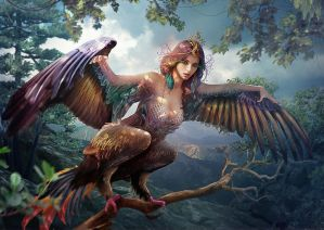 Slavic mythology. Sirin by Vasylina