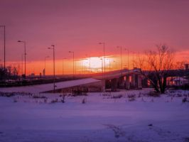 Winter sunset by Olga17