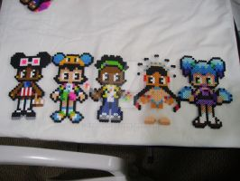Selling: Perler Bead Dolls by Enaicioh