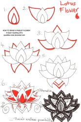 How to draw Paisley Flower 06 by Quaddles-Roost